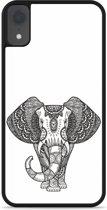 iPhone Xr Hardcase hoesje Elephant Mandala Black