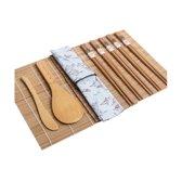 Sushi Maker - Traditionele Sushi Maker Set- Sushi Roller - Sushi Rolmat - Zelf Sushi Maken - Incl Ebook Sushi Recepten