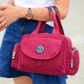 Multifunctionele Leisure Fashion Nylon waterdichte schuine schouder Bag(Red)