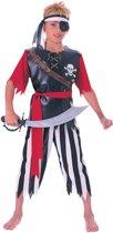 Piraat - Kinderkostuum - Maat S - 98/116 -  3-5 jaar