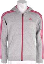 adidas Young Essentials Full Zip Hoody - Sporttrui - Kinderen - Maat 128 - Grijs;Roze