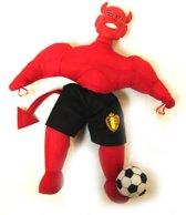 mascotte popje rode duivels 25 cm