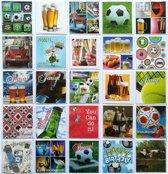 Verjaardagskaarten + Assortie Wenskaarten - Set van 20 + 5 EXTRA--L-057