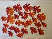 Herfstbladeren-Winterbladeren - Rood-Oranje 25 stuks -Stof