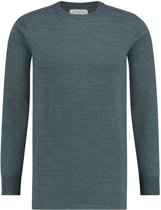 Purewhite Knitted Color Melange Crewneck Green