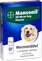 Mansonil All Worm Dog Ontworming - Hond - 2 tabletten