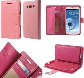 Mercury Rich Dairy wallet case hoesje Samsung Galaxy A3 2015 licht roze
