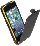 Apple iPhone 5C Lederlook Flip Case hoesje Zwart