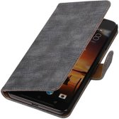 Wicked Narwal | Lizard bookstyle / book case/ wallet case Hoes voor HTC One X9 Grijs