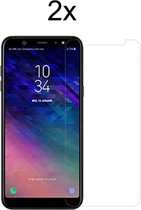 Samsung Galaxy A6 Plus (2018) Screenprotector Glas - Tempered Glass Screen Protector - 2x - LuxeRoyal
