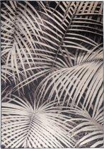 Zuiver Palm By Night - Vloerkleed - 170x240cm - Zwart/Lichtgrijs
