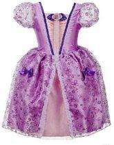 Prinsessen jurk paars maat 116/122 - labelmaat 130 - verkleedjurk