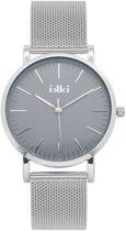 IKKI Janet Zilverkleurig/Grijs Horloge JT-18