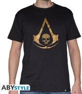 Assassin's Creed - AC 4 Golden Crest Men's T-shirt Blac...