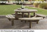 Van Talen - Picknicktafel rond 8 personen - Vuren - 210 cm