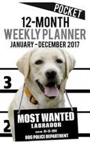 2017 Pocket Weekly Planner - Most Wanted Labrador