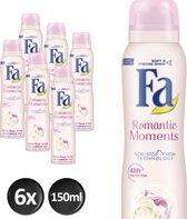 Fa Romantic Moments - 6x 150 ml - Voordeelverpakking - Deodorant