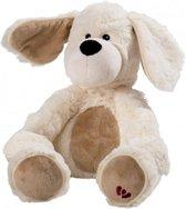 Warmies - Magnetronknuffel Dog White - wit hondje warmtekussen lavendel Kleur: ecru