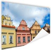 Kleurrijke huizen Warschau Poster 60x40 cm - Foto print op Poster (wanddecoratie)