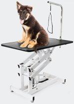 (Aanbieding) Hydraulisch Verstelbare Honden Trimtafel Met Aanlijnoptie - 108 x 60 cm