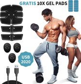 GoGain® EMS Buikspiertrainer + 10 gel pads - Elekt