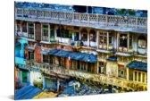 Chandni Chowk is een van de oudste en drukste markten in Oud Delhi Aluminium 30x20 cm - klein - Foto print op Aluminium (metaal wanddecoratie)