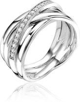 Zinzi Jewels 925 Sterling Zilveren Ring  (Maat: 54) - Zilver