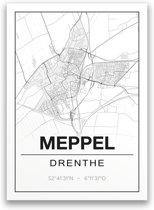 Poster/plattegrond MEPPEL - A4