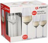 24x Wijnglazen voor witte wijn 370 ml
