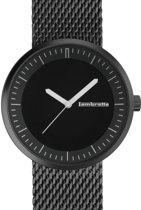 Lambretta Franco zwart - horloge - 44 mm - mesh - zwart