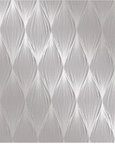 Essence Linear Ogee grijs/zilver behang (vliesbehang, grijs)