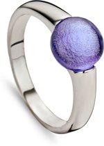 Silventi 943283540-52 Zilveren ring - Blauw en Ronde steen 8 mm - 16,5 mm - Zilverkleurig
