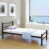 vidaXL Bedframe metaal - zwart - 90x200 cm