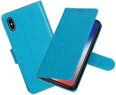 BestCases.nl Turquoise Portemonnee booktype hoesje Apple iPhone X