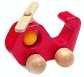 Nic Helikopter 15 Cm Rood Hout