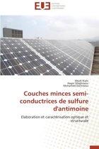 Couches Minces Semi-Conductrices de Sulfure D'Antimoine