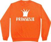 Oranje sweater Koningsdag | Prinsesje | Maat 122-128