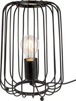 Gadgy Dimbare Draadlamp Metaal – 20.5 x 29.5 cm – Tafellamp van zwart metaal