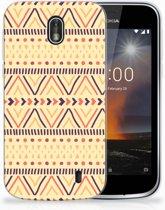 Nokia 1 Uniek TPU Hoesje Aztec Yellow