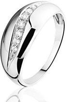 Montebello Ring Baukje - Dames - Zilver Gerhodineerd - Zirkonia - Maat 56 - 17.8 mm