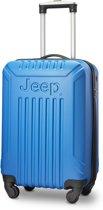 Jeep Missouri 55x35x20cm - Handbagage koffer - 4 Wielen - Blauw - TSA-Cijferslot