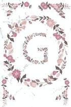 G Monogram Journal: Personalized Initial G, Motivational Heading Prompt - Lined Floral Notebook - Journal - Diary for Reflection