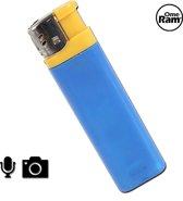 Spycam | Verborgen camera | Spycam aansteker | Spy cam | 720p | Blauw (Met handleiding)