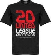 Manchester United 20 League Champions T-Shirt - M