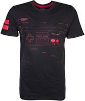 Nintendo Nintendo Heren Tshirt -XL- Controller Zwart