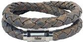 Taboo Jon Double - Armband - Leer