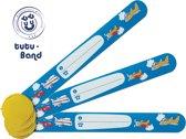 Tutu-Band polsbandjes - Set van 3 SOS naambandjes voor kinderen - Vliegtuig