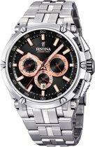 Festina F20327/8 horloge heren - zilver - edelstaal