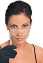Retro bril met stokje voor volwassenen - Verkleedattribuut
