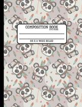 Composition Book Cute Panda 8.5 x 11 Wide Ruled